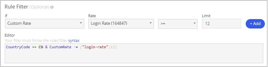 Rule Filter Parameters
